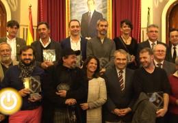 El alcalde recibe a los galardonados con los premios Ciudad de Badajoz