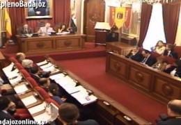 Pleno ordinario de octubre de 2014 del Ayuntamiento de Badajoz