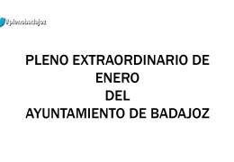 Pleno extraordinario de enero de 2015 del Ayuntamiento de Badajoz