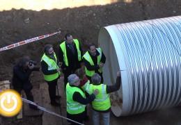 El Alcalde visita las obras del colector de aguas residuales de la margen izquierda