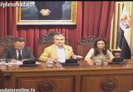 Pleno extraordinario de mayo de 2015 del Ayuntamiento de Badajoz