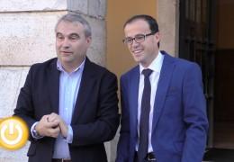 Visita del presidente de la Diputación Miguel Ángel Gallardo
