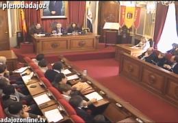 Pleno extraordinario enero 2016 del Ayuntamiento de Badajoz