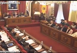 Pleno ordinario de febrero de 2016 del Ayuntamiento de Badajoz