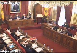 Pleno ordinario de mayo de 2016 del Ayuntamiento de Badajoz