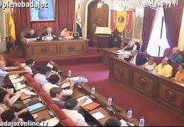 Pleno ordinario de julio de 2016 del Ayuntamiento de Badajoz