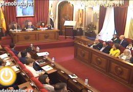 Pleno extraordinario de noviembre de 2016 del Ayuntamiento de Badajoz