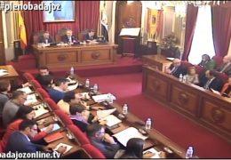 Pleno ordinario de noviembre de 2016 del Ayuntamiento de Badajoz