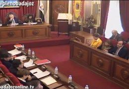 Pleno ordinario de enero de 2017 del Ayuntamiento de Badajoz