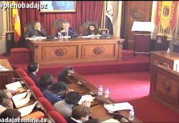 Pleno ordinario de febrero de 2017 del Ayuntamiento de Badajoz