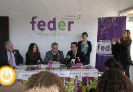El alcalde asiste a la inauguración de las nuevas instalaciones de FEDER en Badajoz