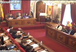 Pleno ordinario de Marzo de 2017 del Ayuntamiento de Badajoz