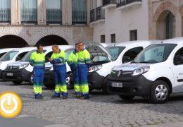 El Servicio Municipal de Agua de Badajoz incorpora 10 vehículos eléctricos a su flota
