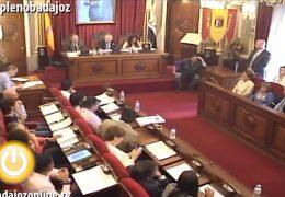Pleno Ordinario Mayo Ayuntamiento de Badajoz 2017
