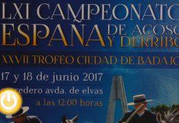 Medio centenar de colleras participan en Badajoz en el Concurso Nacional de Acoso y Derribo