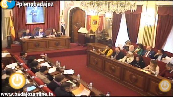 Pleno ordinario de noviembre de 2017 del Ayuntamiento de Badajoz
