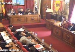 Pleno extraordinario de diciembre de 2017 del Ayuntamiento de Badajoz