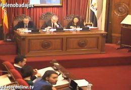 Pleno ordinario de enero de 2018 del Ayuntamiento de Badajoz