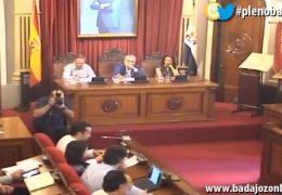 Pleno extraordinario de junio de 2018 del Ayuntamiento de Badajoz