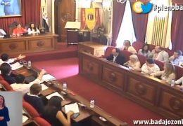 Pleno extra y ordinario de junio de 2018 del Ayuntamiento de Badajoz