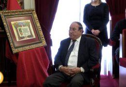 Nombramiento de Juan Rodríguez Valdés como Hijo predilecto de la ciudad de Badajoz