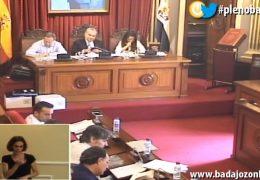 Pleno ordinario de julio del Ayuntamiento de Badajoz 2018