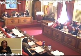 Pleno ordinario de octubre 2018 Ayuntamiento de Badajoz