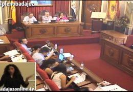 Pleno ordinario de septiembre 2018 Ayuntamiento de Badajoz