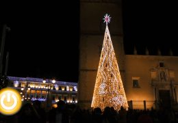 El encendido de las luces de Navidad llega a Badajoz