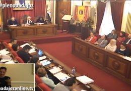 Pleno ordinario de diciembre 2018 Ayuntamiento de Badajoz