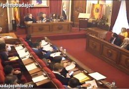 Pleno ordinario de enero 2019 Ayuntamiento de Badajoz