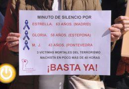 Minuto de silencio por 3 nuevas víctimas de la violencia machista