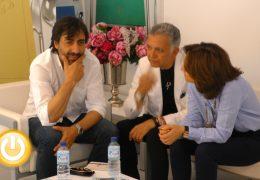 Sánchez-Garnica, Juan Ramón Lucas y Juan Del Val visitaban hoy la feria del libro