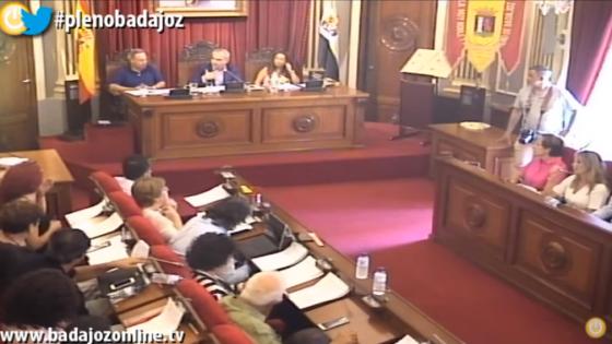 Pleno julio 2019 Ayuntamiento de Badajoz