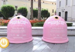 Cuatro contenedores rosas para impulsar la investigación contra el cáncer de mama