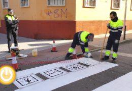 Pasos de peatones con pictogramas para mejorar la movilidad de personas con autismo