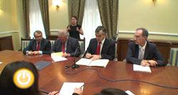 Firmado el convenio para llevar agua potable a Alvarado