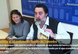 IU denuncia el abandono de Suerte de Saavedra