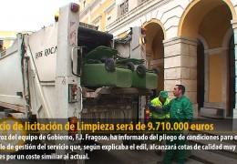 El precio de licitación de Limpieza será de 9.710.000 euros