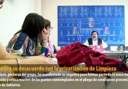 IU muestra su desacuerdo con la privatización de Limpieza