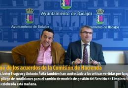 Informe de los acuerdos de la Comisión de Hacienda