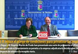El GMS-R critica el pliego de condiciones para la privatización de Limpieza