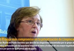 El GMS-R exige más compromiso en la privatización de Limpieza