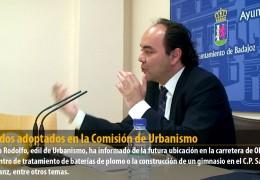 Acuerdos adoptados en la Comisión de Urbanismo