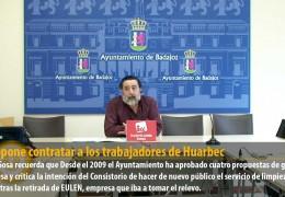 IU propone contratar a los trabajadores de Huarbec