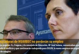 Las limpiadoras de HUARBEC no perderán su empleo