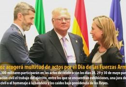 Badajoz acogerá multitud de actos por el Día de las Fuerzas Armadas