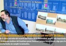 Manuel Sosa denuncia irregularidades en un vertido de tierra