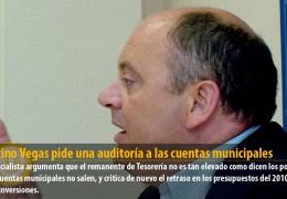 Celestino Vegas pide una auditoría a las cuentas municipales