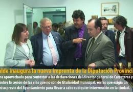 El alcalde inaugura la nueva imprenta de la Diputación Provincial